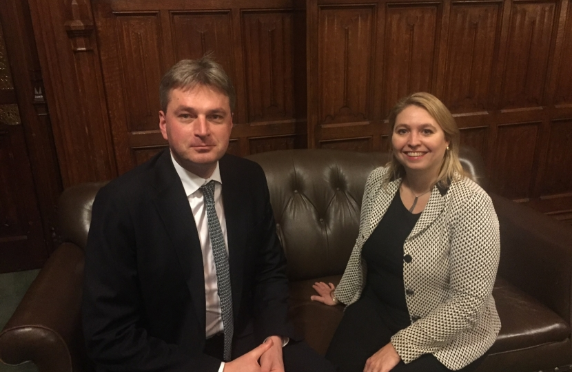 With DCMS Secretary of State, Karen Bradley