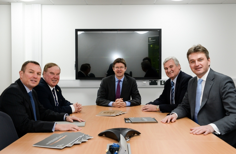 with Marches LEP and Business Secretary Greg Clark