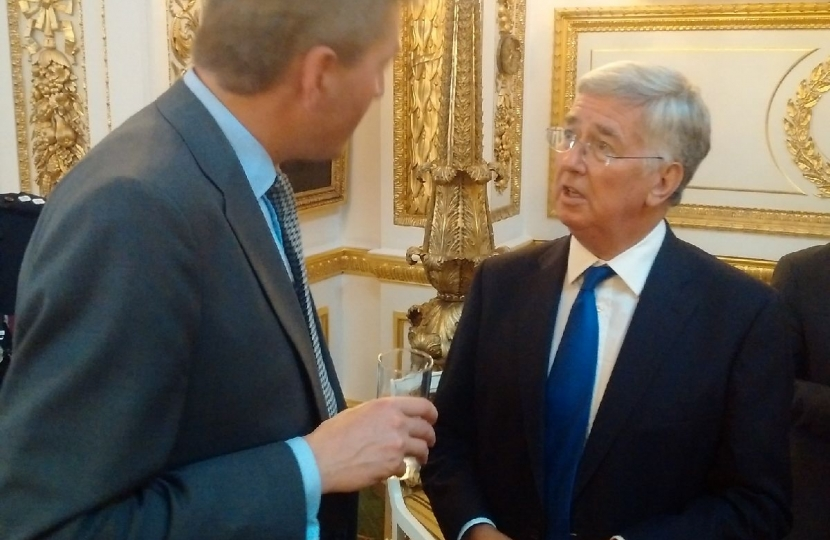 With Defence Secretary, Sir Michael Fallon