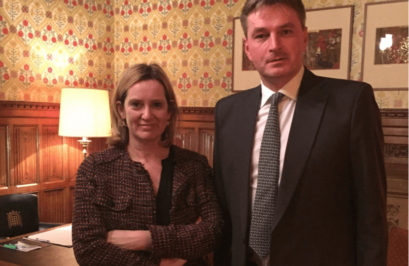 With Home Secretary Amber Rudd