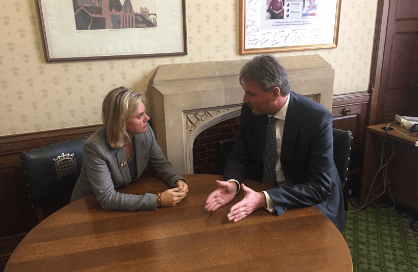 With Education Secretary, Justine Greening